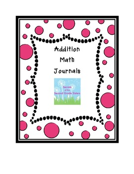 Addition Strategies Math Journals