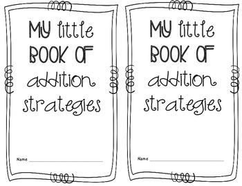 Addition Strategies Mini book