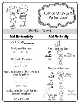 "Addition Strategies - ""My Math Mentor"" Book 1"