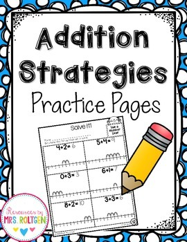Addition Strategies Pages