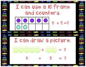 Addition Strategies Posters- Common Core Aligned