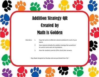 Addition Strategies QR
