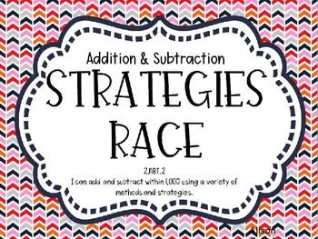 Addition & Subtraction Strategies Race - Editable