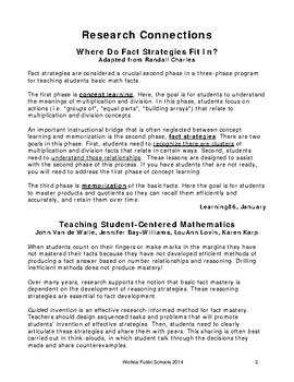 Addition Strategies Sheet