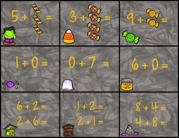 Addition Strategies- Spooky Write the Room