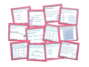 Addition Strategies Task Cards: Plus 100 (SECOND GRADE)