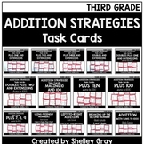 Addition Strategies Task Cards: Third Grade Bundle (Sums to 1000)