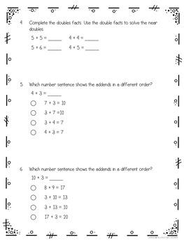 2nd Grade Addition Strategies Test