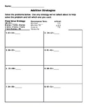 Addition Strategies Worksheet