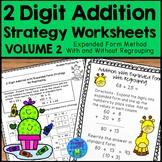 Addition Strategies Worksheets - 2 Digit Expanded Form Volume 2