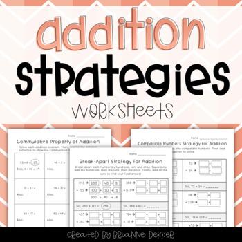 Addition Strategies Worksheets - Third Grade GoMath!