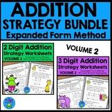Addition Strategies Worksheets - Expanded Form Bundle Volume 2