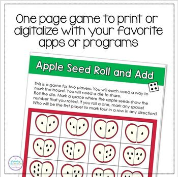 Addition Strategies and Comparing Numbers: Johnny's Appleseeds