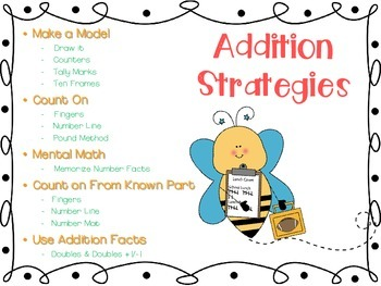 Addition Strategies and More for Kindergarten and First Grade 50 Pages!