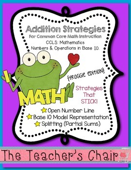 Addition Strategies for Common Core Math Instruction