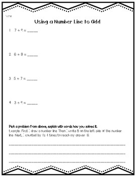 Addition Strategies to 20 Practice