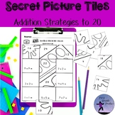 Addition Strategies to 20 School Theme Secret Picture Tiles