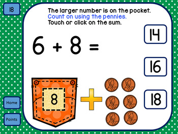 Addition Strategy Counting On for use with Google Classroom™