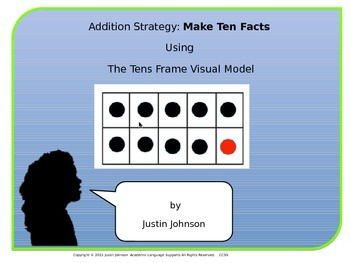 Addition Strategy: Make Ten Facts Using Tens Frame Visual Model
