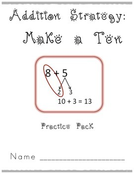 Addition Strategy: Make a Ten to Add