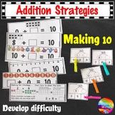 Math Addition Strategies Making TEN Activities Grade 1 and Grade 2