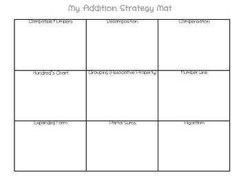Addition Strategy Mat