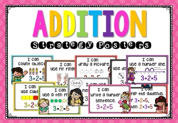 Addition Strategies and Subtraction Strategies Posters - Mental Math