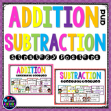 Addition Strategies Posters and Subtraction Strategies Posters - Mental Math