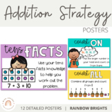 Addition Strategy Posters {Rainbow Theme}
