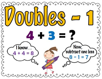 Addition Facts Strategy Practice: Doubles, Double - 1, Doubles + 1