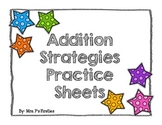 Addition Strategy Practice Sheets