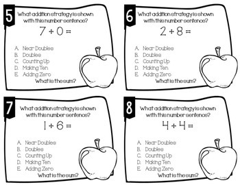 Addition Strategy Task Cards