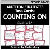 Addition Strategy Task Cards: Counting On (Sums to 100) SE