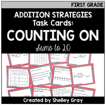 Addition Strategy Task Cards: Counting On (Sums to 20) FIRST GRADE