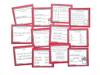 Addition Strategy Task Cards: Doubles Plus One and Extensions (Fourth Grade)