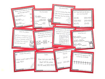 Addition Strategy Task Cards: Doubles Plus One and Extensions (Third Grade)