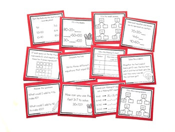 Addition Strategy Task Cards: Making 10 and Making 100