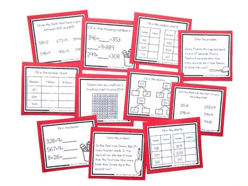 Addition Strategy Task Cards: Plus 7, 8, and 9 (Fourth Grade)
