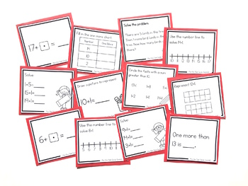 Addition Strategy Task Cards: Plus One (Sums to 20) FIRST GRADE