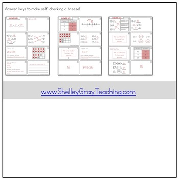 Addition Strategy Task Cards: Plus Two (Sums to 100) SECOND GRADE
