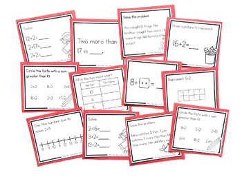 Addition Strategy Task Cards: Plus Two (Sums to 20) FIRST GRADE