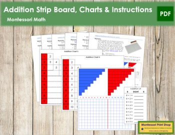 Addition Strip Board, Charts & Instructions