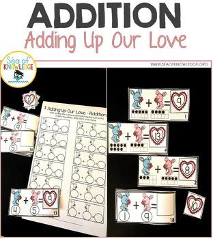 Ten Frame Addition Activities - Valentine's Day