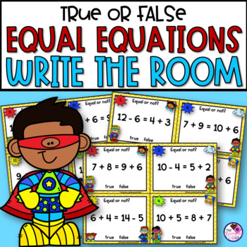 Addition & Subtraction Balancing Equations with the Equal Sign Write the Room