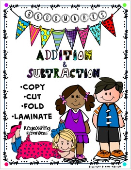 Addition Subtract Reminder Double Sided Mini-Bookmarks