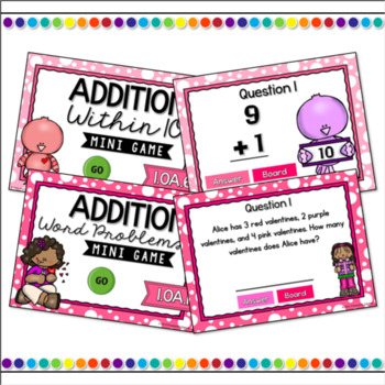 Addition & Subtraction Mini Game Bundle