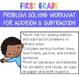 Addition & Subtracting Work Mat for Problem Solving