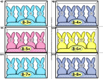 "Addition & Subtraction 0-10 'Solving With My ""Peeps!""' Cards, Printables & More!"