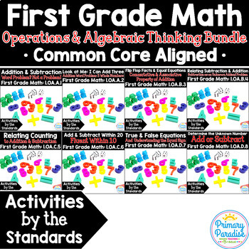 Addition & Subtraction 1st Grade: Activities by the Standards OA Bundle