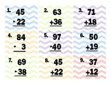 Addition & Subtraction 2-Digit Scoot (No Regrouping)